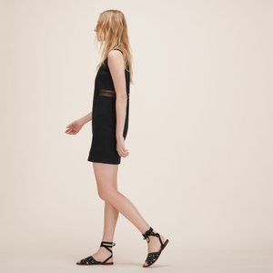 Maje Restal Stretch Cotton Black Mini Dress Size 3